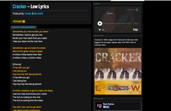 Exhibit 1 Cracker unlicensed annotated lyric site