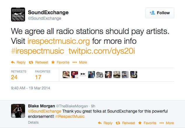 SoundExchangeIrespectMusicTwitter