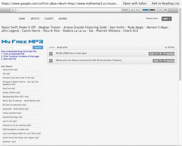OK Go Lyrics Link
