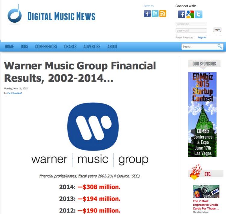 WarnerMusicGroupLosses