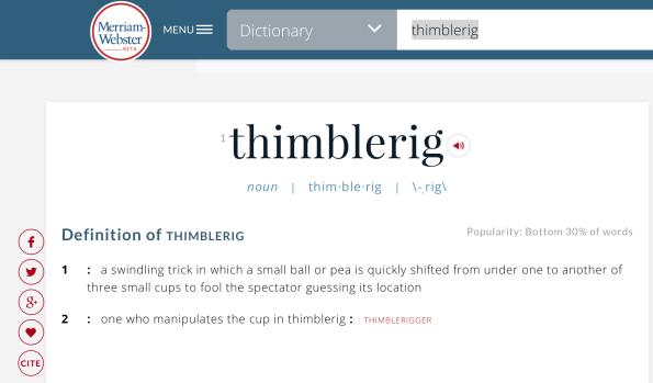 thimblerig definition