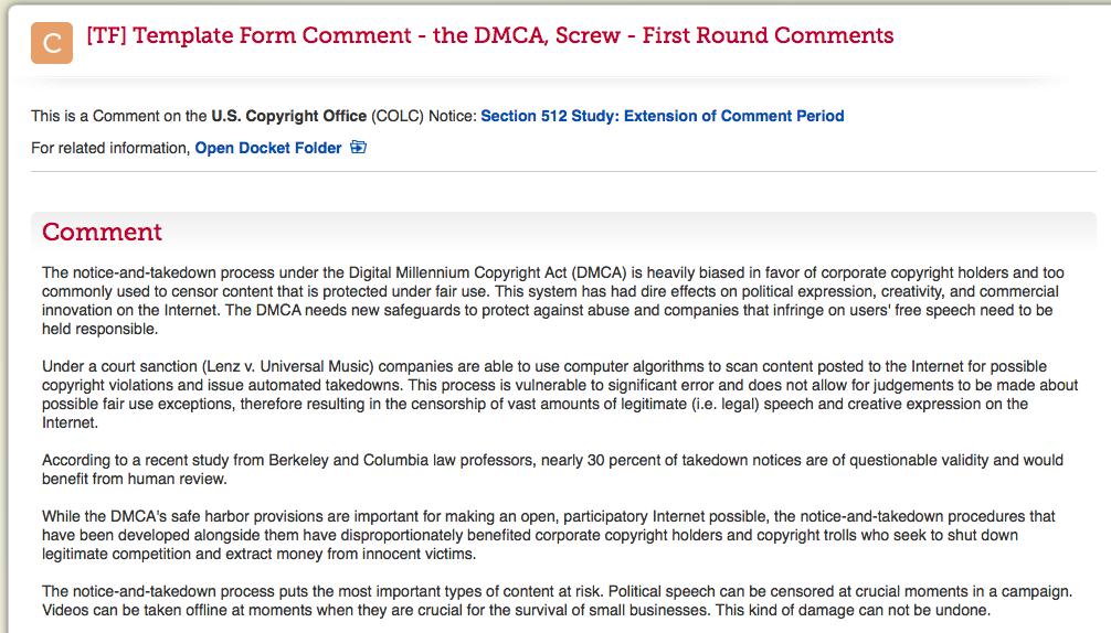 dmca free takedown